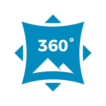 360 degrees panoramic. isolated vector abstract sign