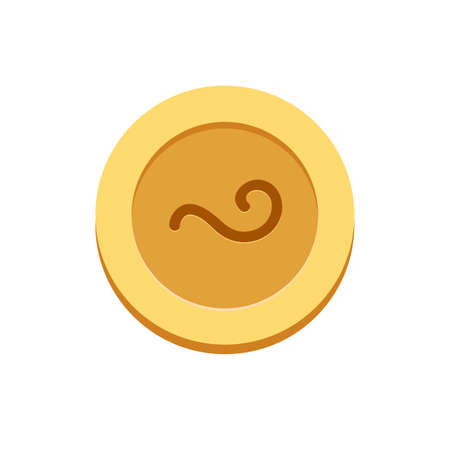 The tail Side of the coin. Isolated Vector Illustration
