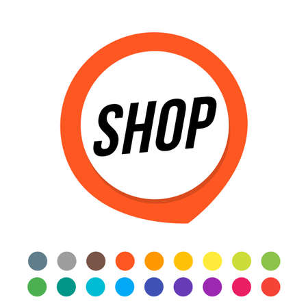 An abstract sign of GPS with shop text. Alternative color Stock Illustratie