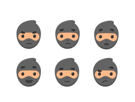 The emoticon of ninja - Feedback emoticon smiley