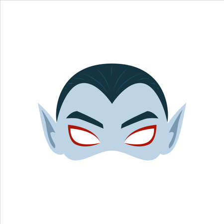 The Grey Vampire Mask. Isolated Vector Illustration