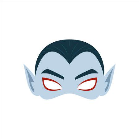 The Grey Vampire Mask. Isolated Vector Illustration Illustration