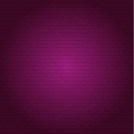 Pink Brick Stonewall. Square oriented. Vector Illustration Çizim