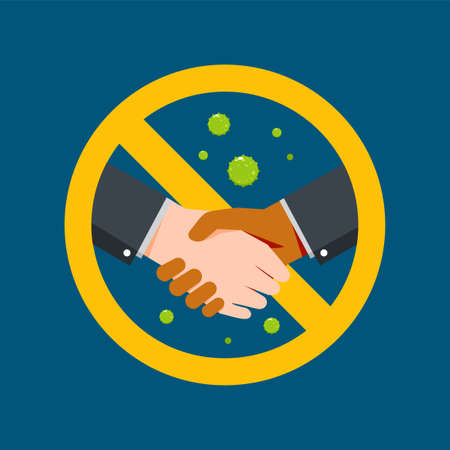 Handshake is forbidden. Isolated Vector Illustration.