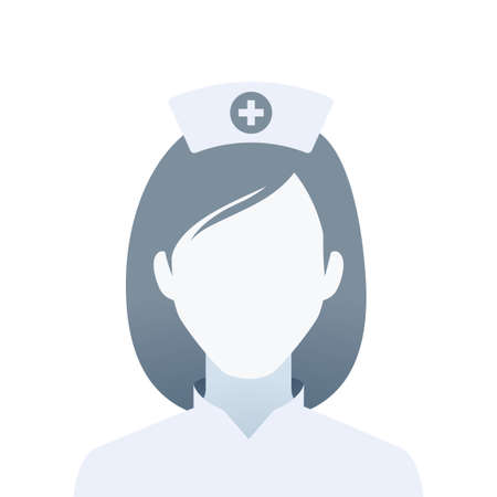 A faceless portrait of a nurse. Isolated Vector Illustration  イラスト・ベクター素材