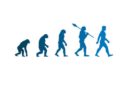 The evolution theory of man. Isolated Vector Illustration  イラスト・ベクター素材
