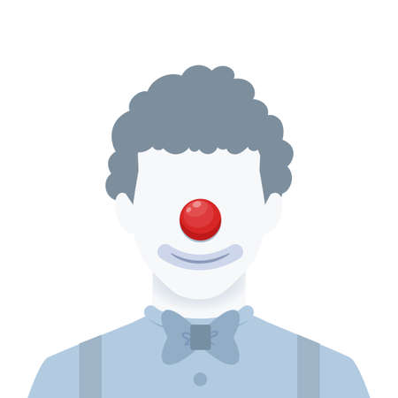 A faceless portrait of a clown. Isolated Vector Illustration  イラスト・ベクター素材