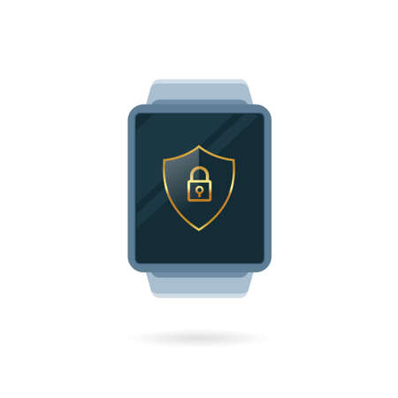 A digital smart watch. Isolated Vector Illustration  イラスト・ベクター素材