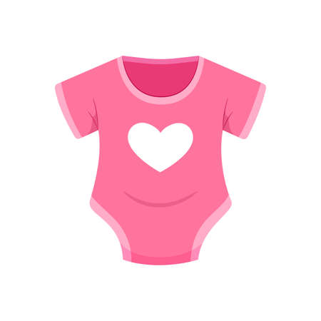 The Pink Baby Clothes. Isolated Vector Illustration