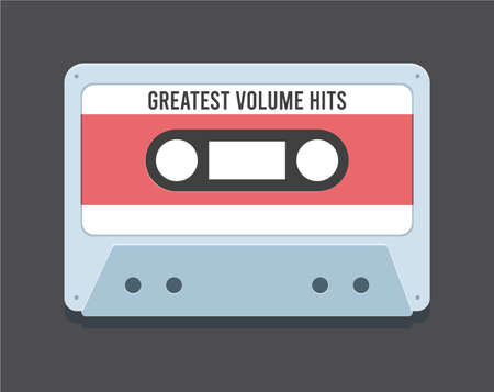 The Old Cassette. Isolated Vector Illustration