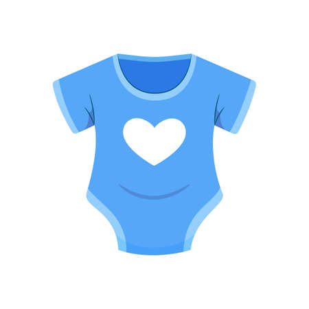 The Blue Baby Clothes. Isolated Vector Illustration