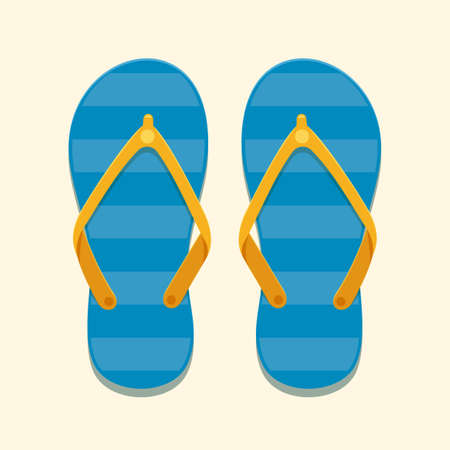 The flip flop Sandals. Isolated Vector Illustration