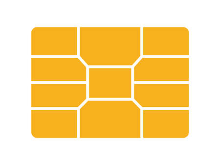 The Golden Chip Card. Isolated Vector illustration  イラスト・ベクター素材