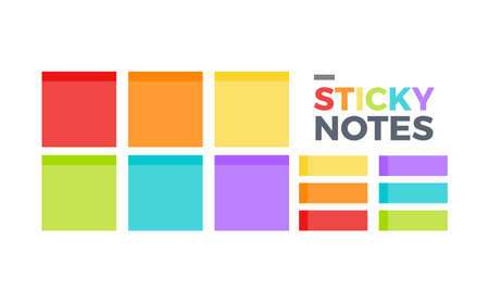 Multicolor sticky notes. Isolated Vector Illustration  イラスト・ベクター素材