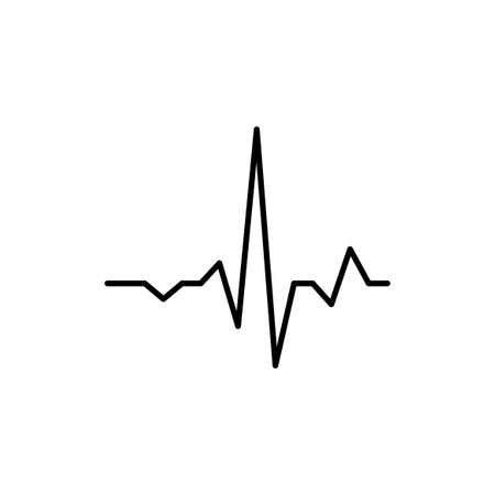The Graphic Sign of Heart Rate. Isolated Vector illustration