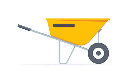 The Yellow Wheelbarrow. Isolated Vector Illustration