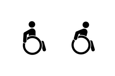 The Disability Icon. Isolated Vector Illustration