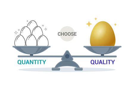 The weight balance of Quality and quantity