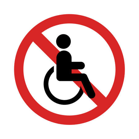 Disability is forbidden. Isolated Vector Illustration
