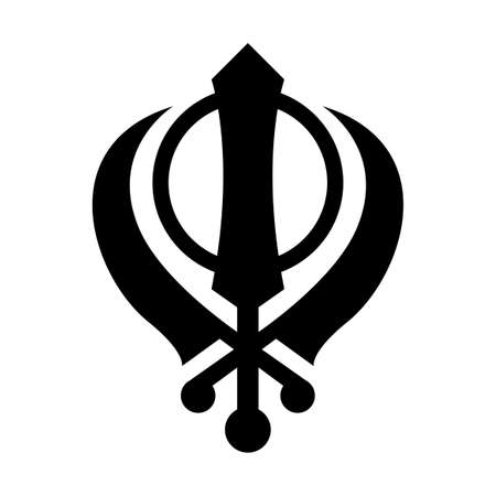 The Sign of Khanda. Isolated Vector Illustration