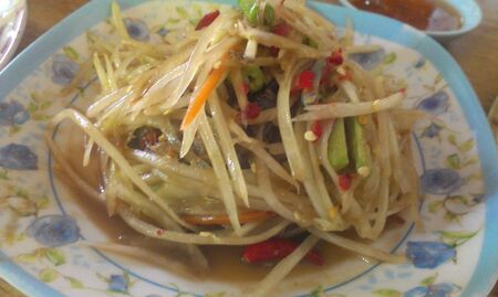 slatternly: Green papaya salad with slatternly