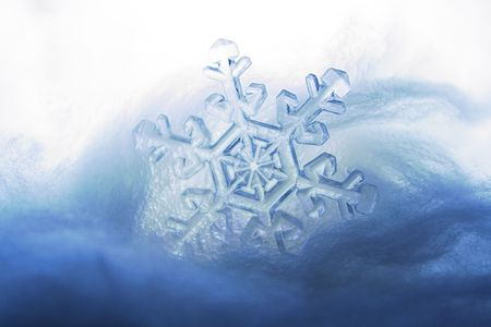 frozen snowflake - glassy ice effect applied Stock Photo - 4452192