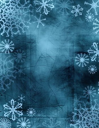 flurry: wintry frame with textured background in tie-dye fashion