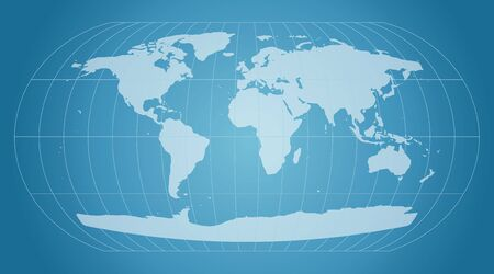 globe grid: blue world map with grid Stock Photo