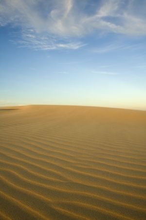 Shifting sands in the glow of the afternoon sun Stock Photo