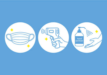 Illustration of infection prevention measures.