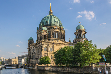 Berliner cathedral seen from across the spree