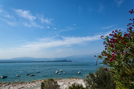 View on lake garda from Sirmione peninsula
