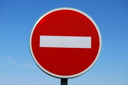 do not enter: Do not enter sign blue sky Stock Photo