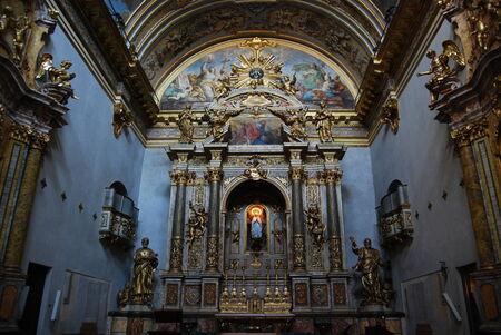 st  francis: bleu church interiour Assisi