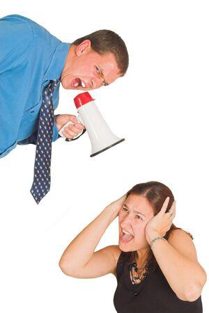 El hombre gritando a la mujer  Foto de archivo - 464884