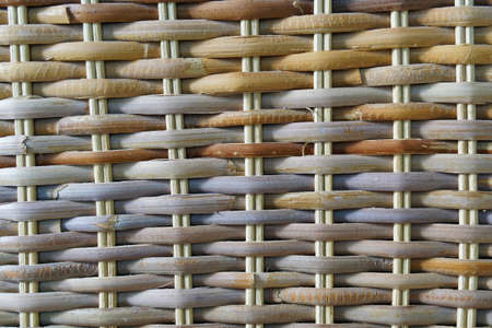 Close-up texture of a wicker basket
