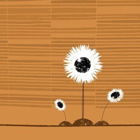 Winning sunflower on beige Stockfoto