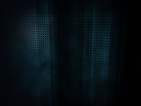 3D render of a dark, abstract, geometric blue environment.