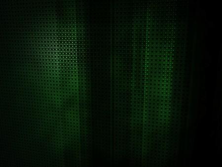 3D render of a dark, abstract, geometric green environment.