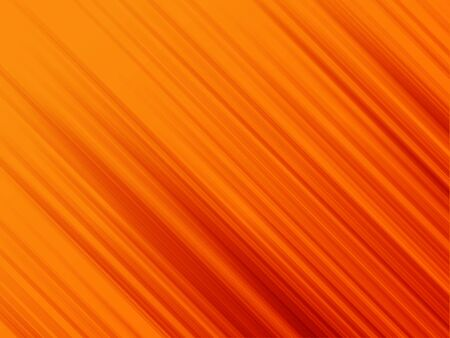 Illustration of gradient lines shooting diagonally over orange background.  Stock Photo