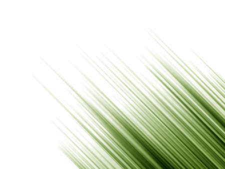 Illustration of green gradient lines shooting diagonally over white background.