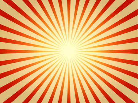 Illustration of glowing radial sunburst effect.