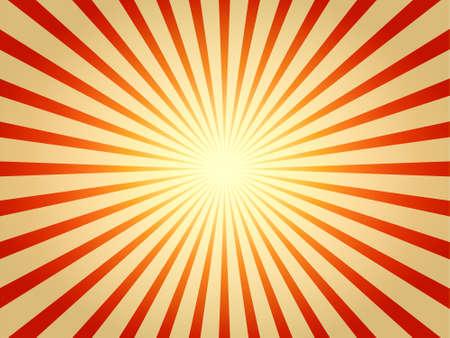Illustration of glowing radial sunburst effect.