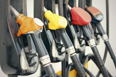 fuel pumps: Fuel pumps at gas station