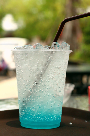 blue hawaiian drink: blue cocktail or blue drink in glasses