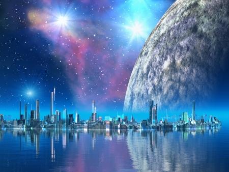 Futuristic Floating City