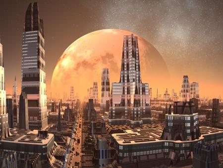 futuristico: Cresta Comune Torri del futuro