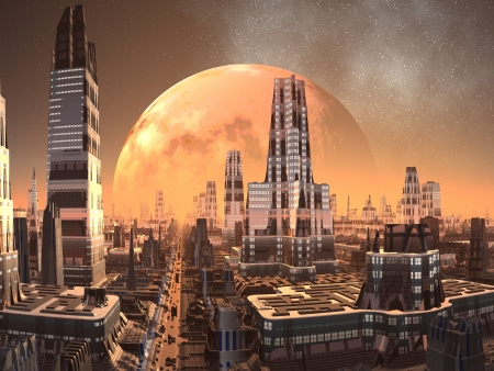 fantasy fiction: Cresta Towers City of the Future