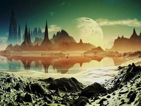 Alien City Ruins naast het Lake