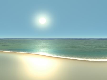 Perfectie Beach Stockfoto